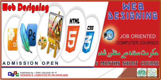 Admission open in Web Designing Short Courses