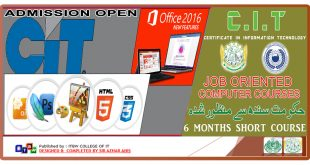 Admission open in CIT Short Courses